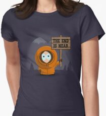 The End Is Near Womens Fitted T-Shirt