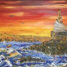 Cirkewwa sunset by Victor Grech