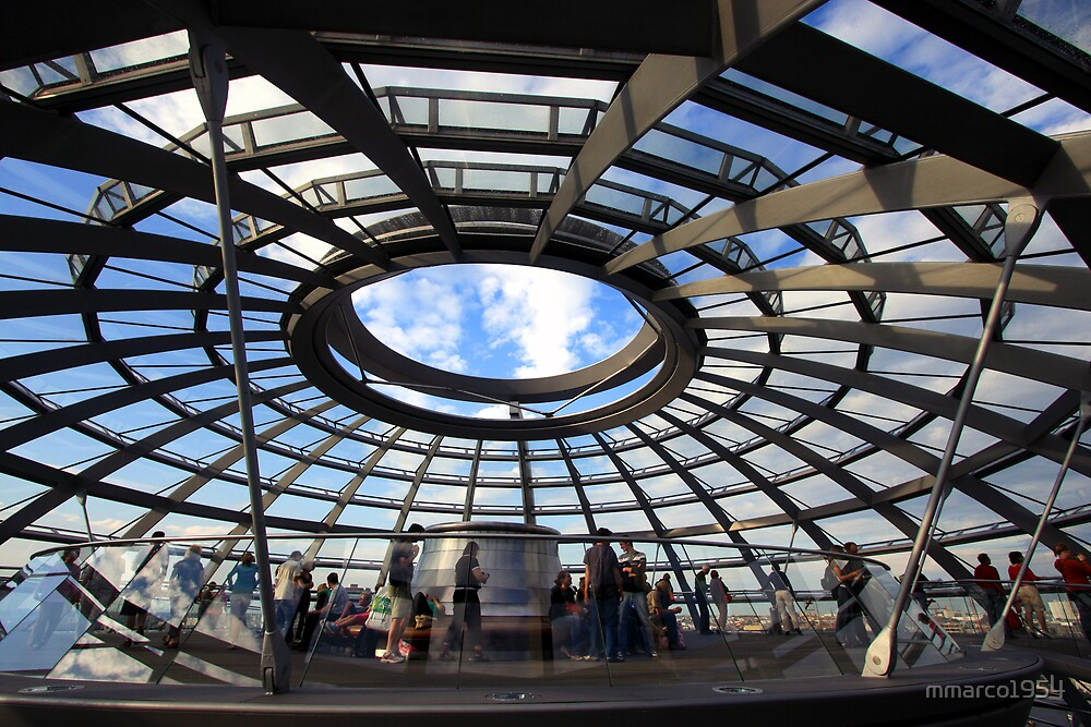 Berlin - Inside the Reichstag dome  by mmarco1954