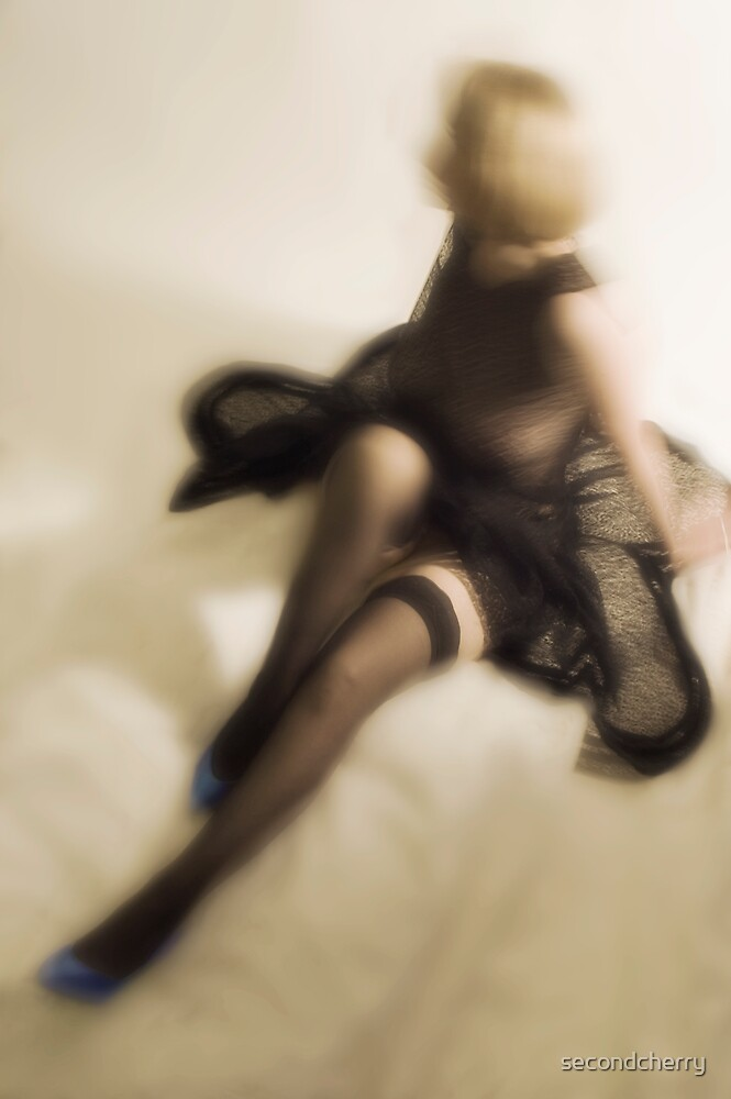 Stockings & Blue Shoes by secondcherry