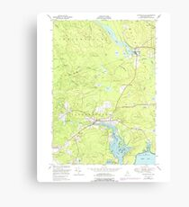 Maine USGS Historical Map Whitneyville 103111 1948 24000 Canvas Print