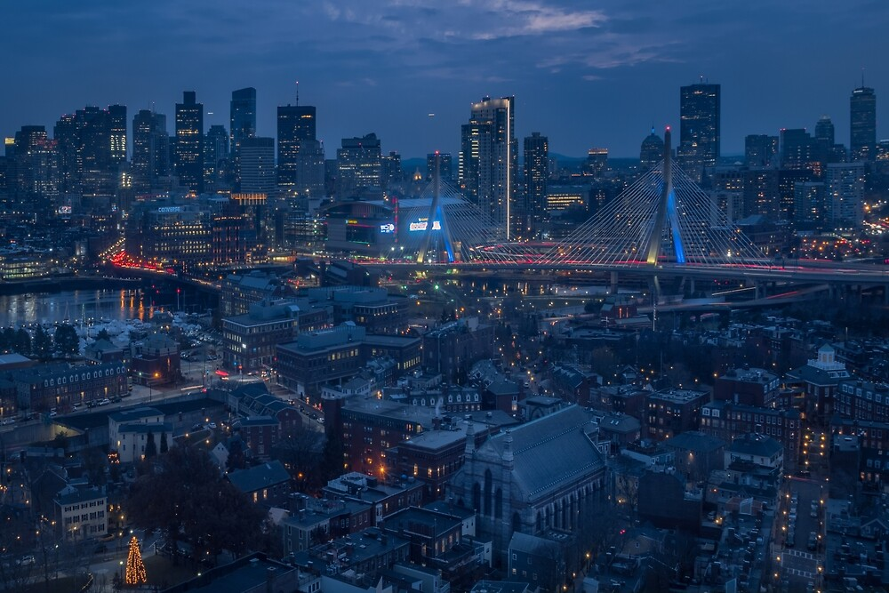Boston in the Blue Hour by mattmacpherson