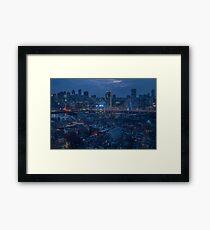 Boston in the Blue Hour Framed Print