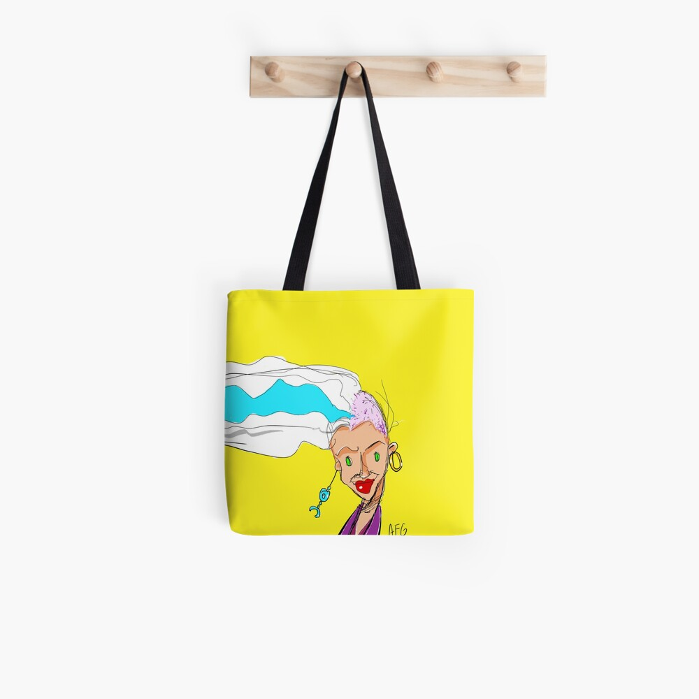 Shaved Head Girl Tote Bag