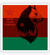 Bear Flag Forever 2 Sticker