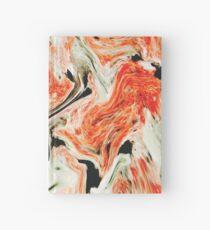 Orange Marble Hardcover Journal
