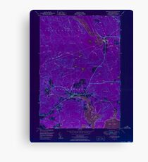 Maine USGS Historical Map Whitneyville 807310 1951 24000 Inversion Canvas Print