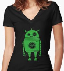 POPULAR KN889 Big Robot Best Product Women's Fitted V-Neck T-Shirt