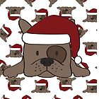 Santa Pup by graphicloveshop