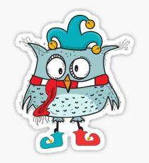 Funny carnival carnival owl Sticker