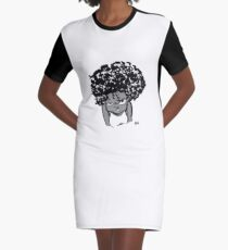 Annoyed Little Girl Graphic T-Shirt Dress