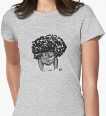 Annoyed Little Girl Women's Fitted T-Shirt