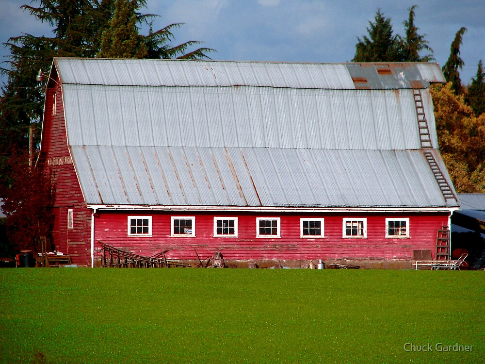 The Old Red Barn on River Road by Chuck Gardner