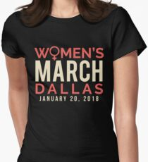 Dallas Texas Women's March January 20 2018 Women's Fitted T-Shirt