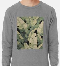Tropical Banana Leaves Leichter Pullover
