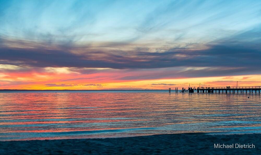 Fraser Island Sunset by Michael Dietrich