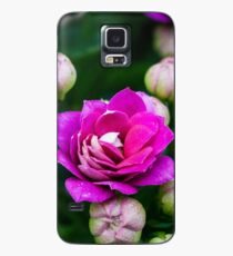 Bright Pink Flowers Case/Skin for Samsung Galaxy