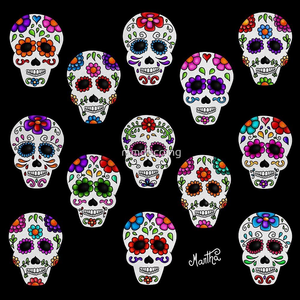 Calaveras Mexicanas De Martha Calacas I De Mmducoing Redbubble