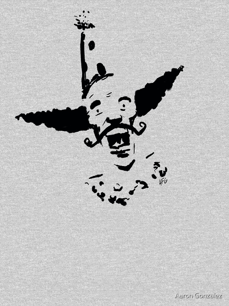 Curly Mustache Clown by aaronfg