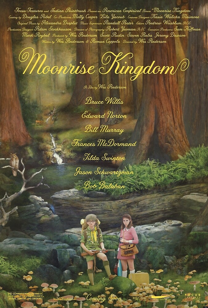 Moonrise Kingdom Film Poster by dearesthoneybee