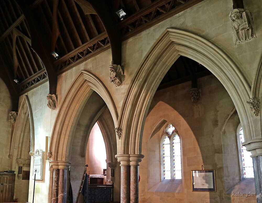Arches of St Etheldreda by kalaryder