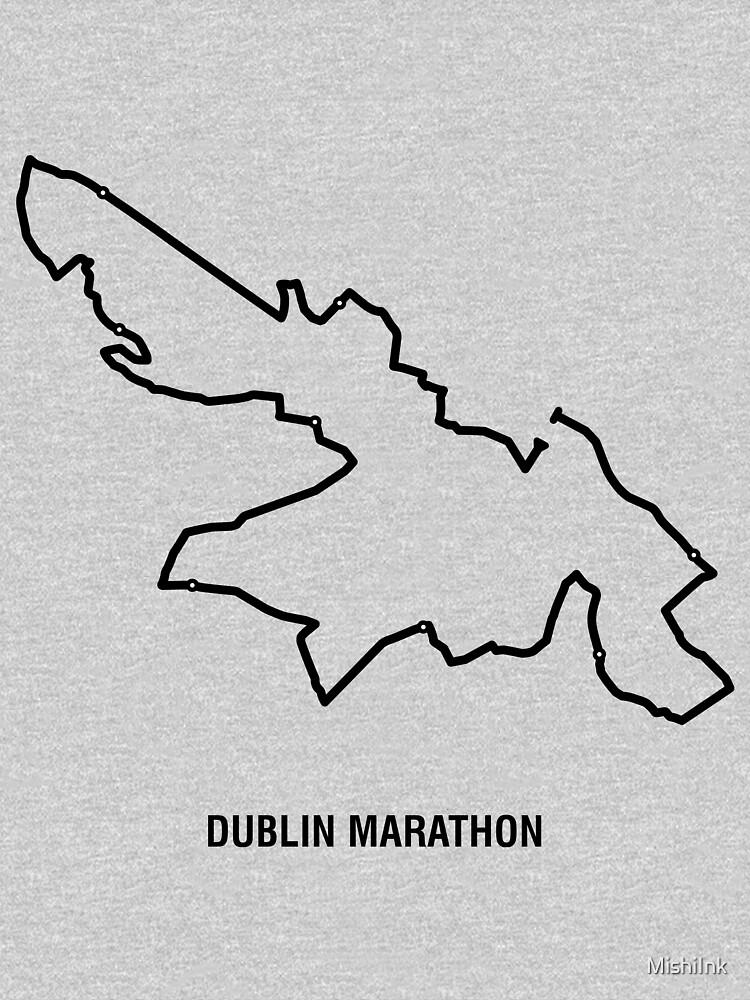 Dublin Minimalist Marathon Map  by MishiInk