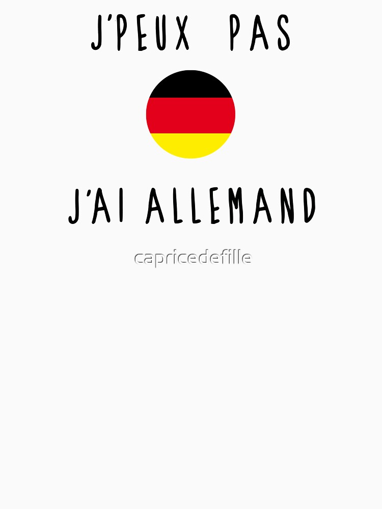 I can not german by capricedefille