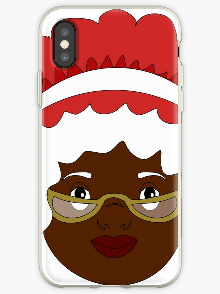Black Mrs Claus by paperflodesigns