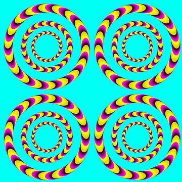 Moroccan Op Art Optical Illusion by closeddoor