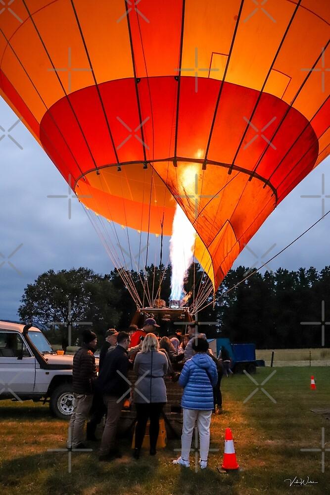Yarra Valley Hot Air Balloons, Victoria, Australia. by Vicki Walsh