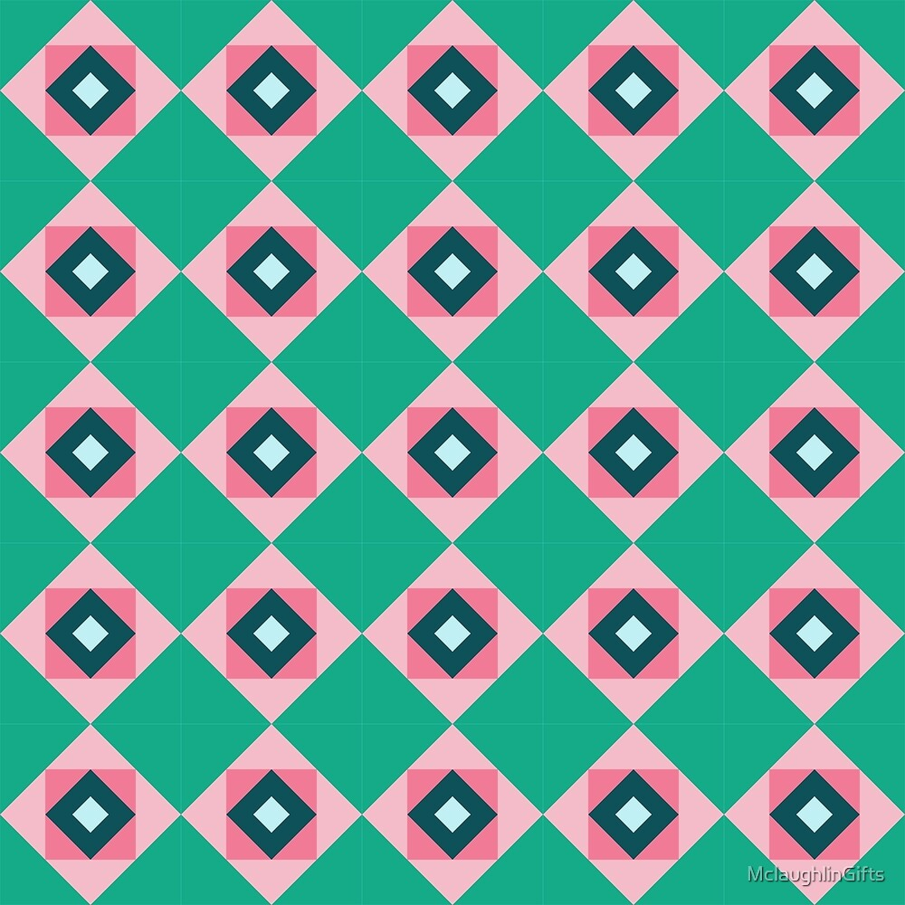 Colorful Geometric Abstract Pattern by MclaughlinGifts