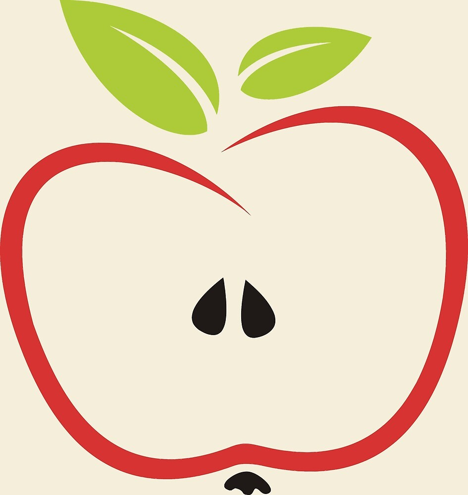 Cute Simple Apple by pdgraphics