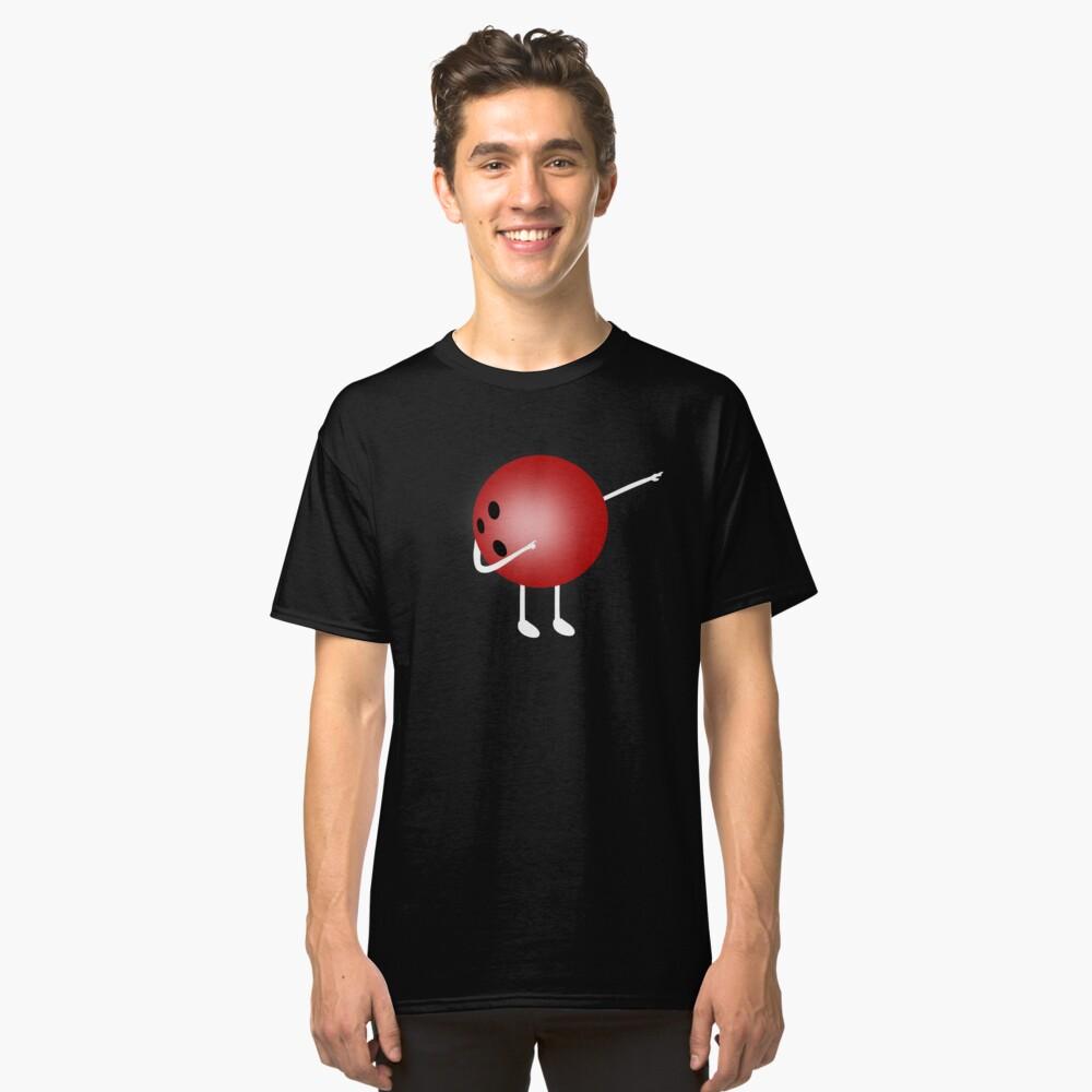 Dabbing Bowling Ball, Funny Novelty Merch Classic T-Shirt Front