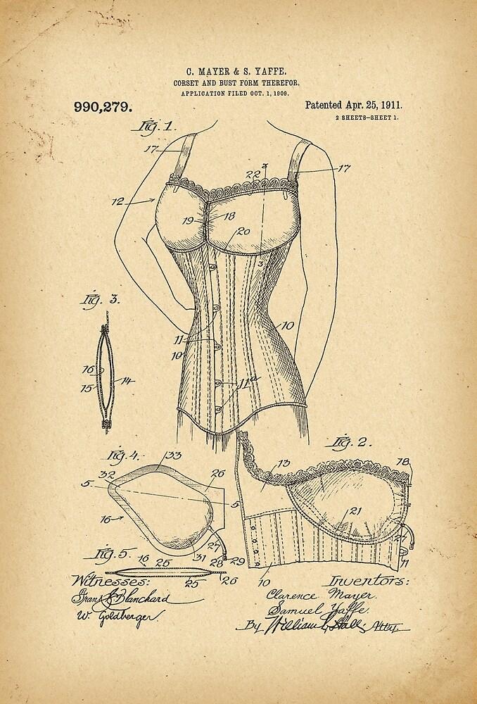1909 Patent Corset by Khokhloma
