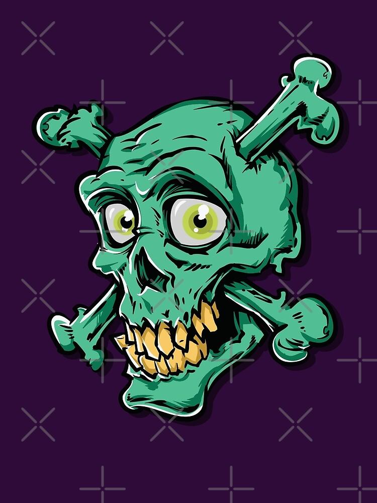 Friendly Smiling Green Skull by Skullz23