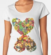 Hearts (Fruit) Women's Premium T-Shirt