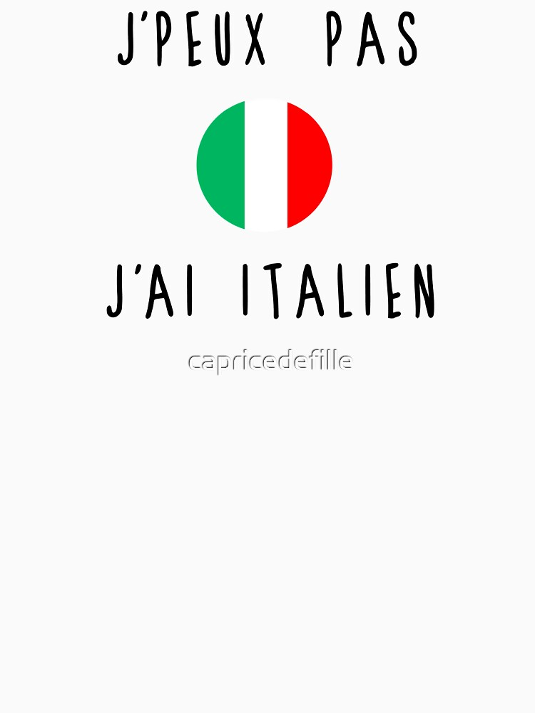 I can not Italian by capricedefille