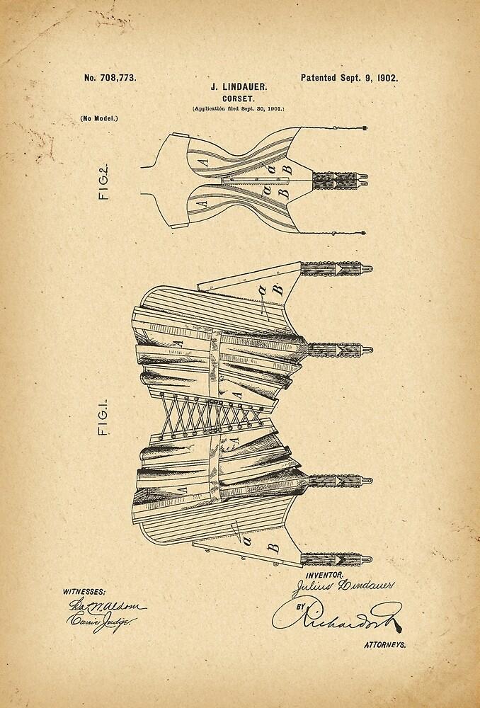 1902 Patent Corset by Khokhloma
