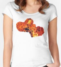 Hearts (Fire) Women's Fitted Scoop T-Shirt