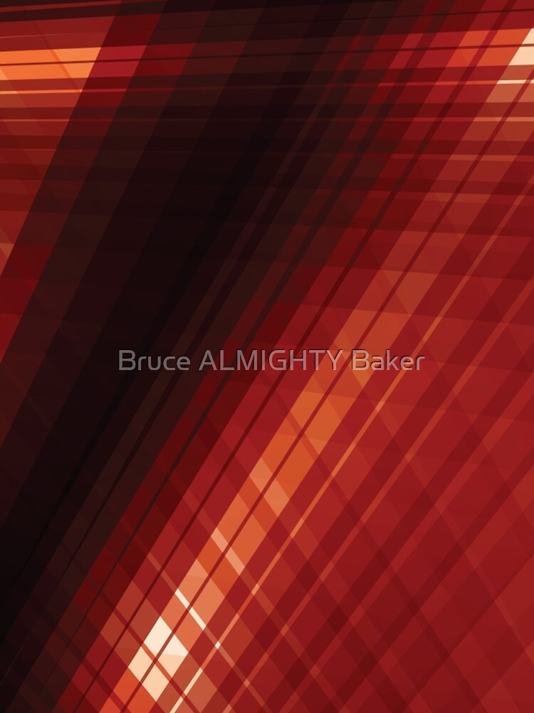 Red Lines Abstract Art by BruceALMIGHTY