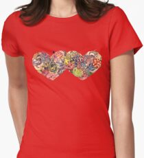 Hearts (Snakes) Women's Fitted T-Shirt