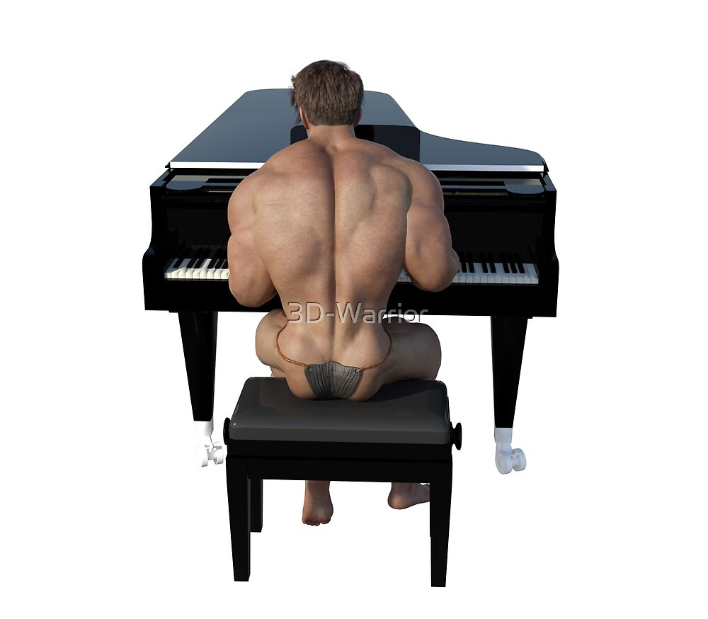 Piano player from behind by 3D-Warrior