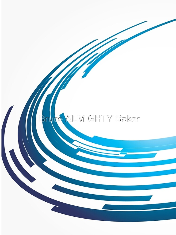 Blue Curves Abstract Art by BruceALMIGHTY