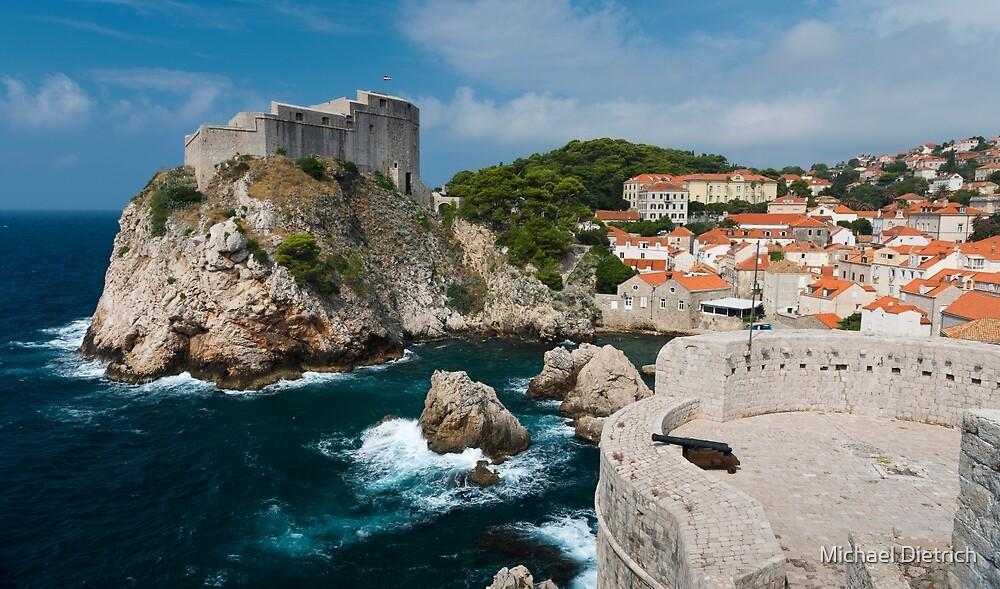 Dubrovnik City Wall, Croatia by Michael Dietrich