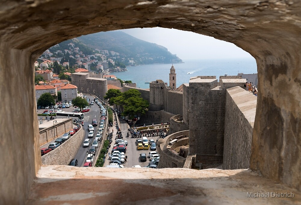 Dubrovnik City Wall, Croatia by Michael Dietrich