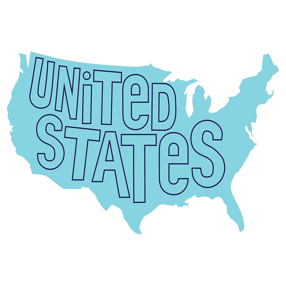 Blue United States Map by chcdesign