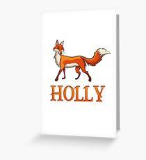 Holly Fox Greeting Card