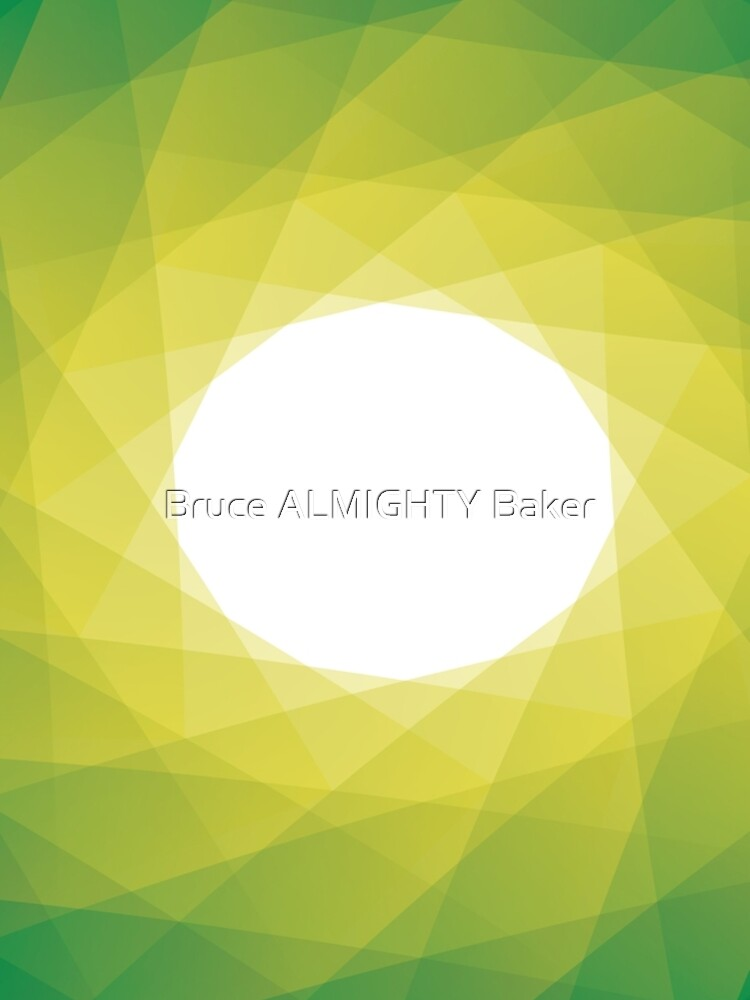 Green Yellow Swirl Abstract Art by BruceALMIGHTY