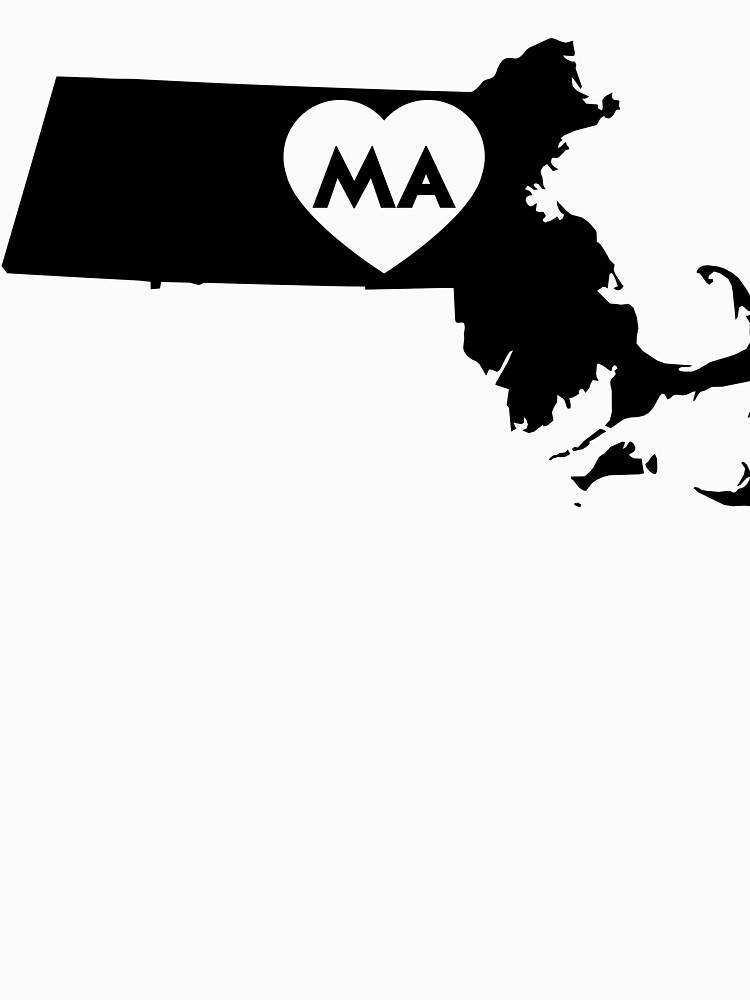 I Love Massachusetts State by Chocodole