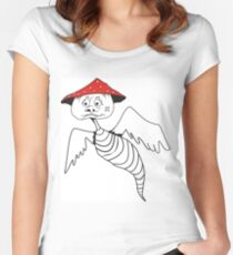 Death-cap mushroom bug Women's Fitted Scoop T-Shirt